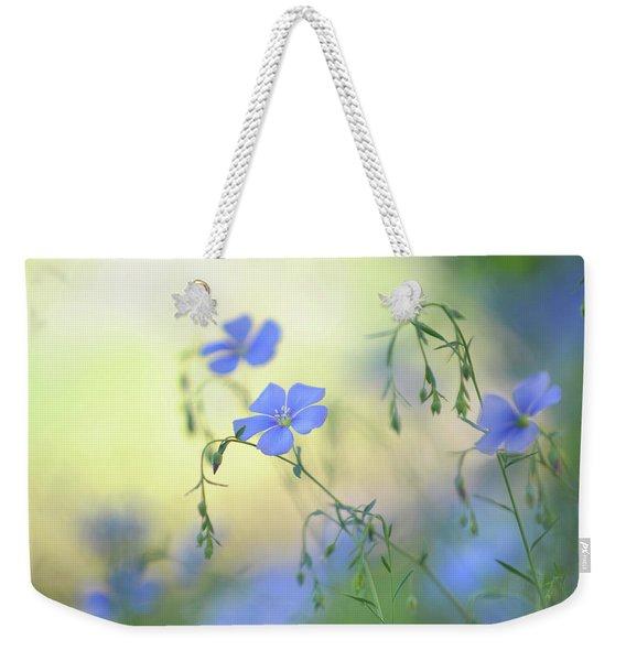 Blue Flex Flower Weekender Tote Bag