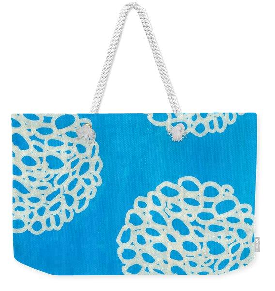Blue Garden Bloom Weekender Tote Bag