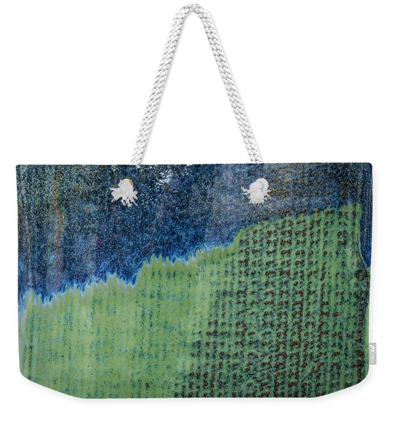 Blue/green Abstract Two Weekender Tote Bag