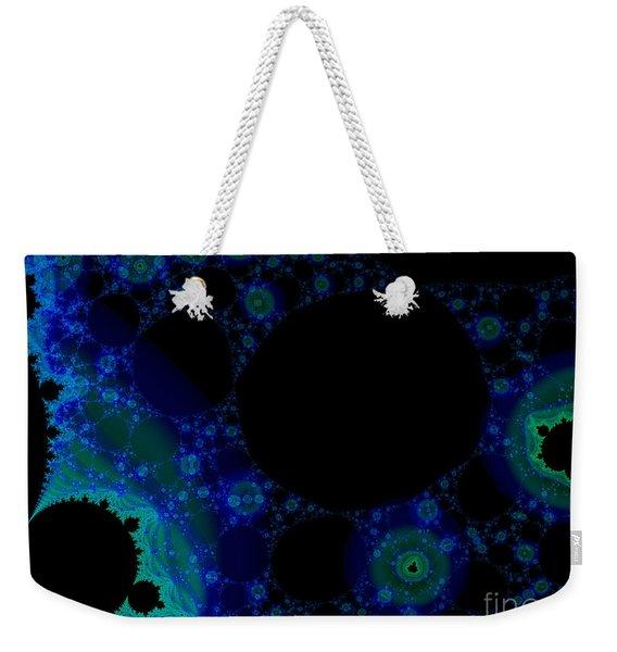 Blue Green Galaxy Fractal Weekender Tote Bag