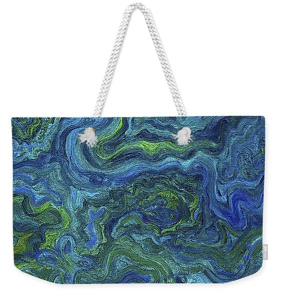 Blue Green Texture Weekender Tote Bag