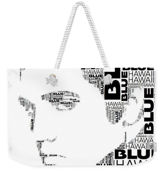 Blue Hawaii Elvis Presley Wordart Weekender Tote Bag