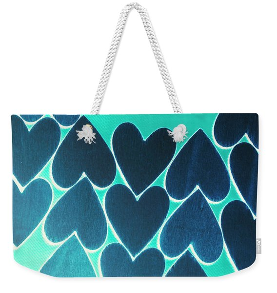 Blue Heart Collective Weekender Tote Bag