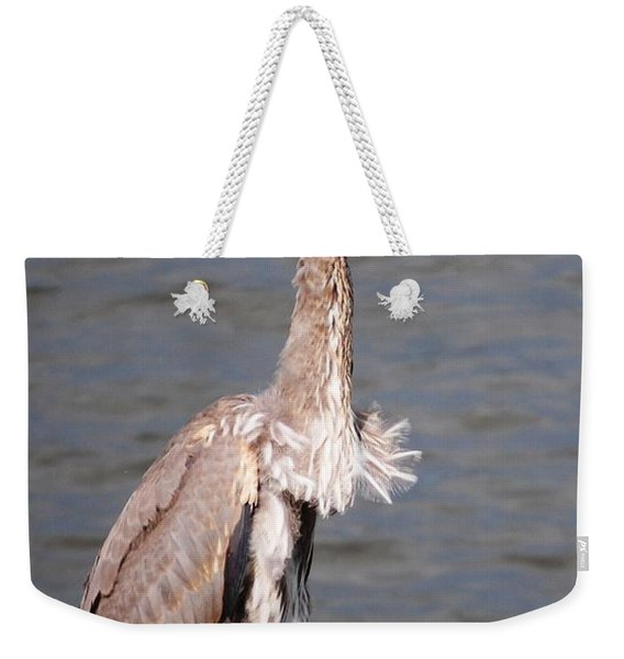 Blue Heron Calling Weekender Tote Bag