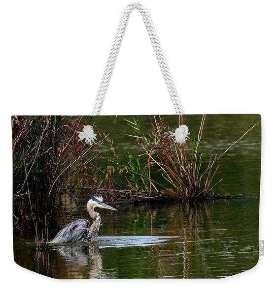Blue Heron Pond Weekender Tote Bag