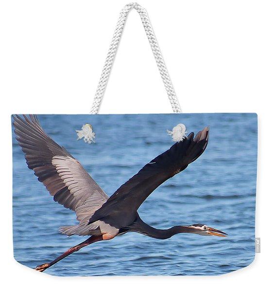 Blue Heron Wingspan Weekender Tote Bag