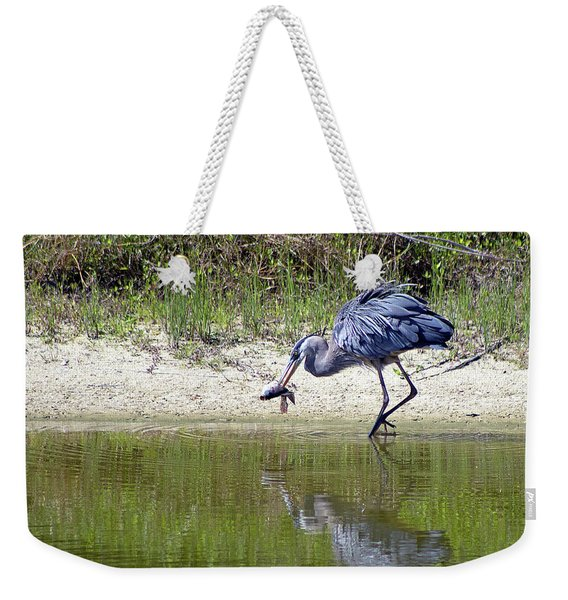 Blue Heron's Lucky Day Weekender Tote Bag