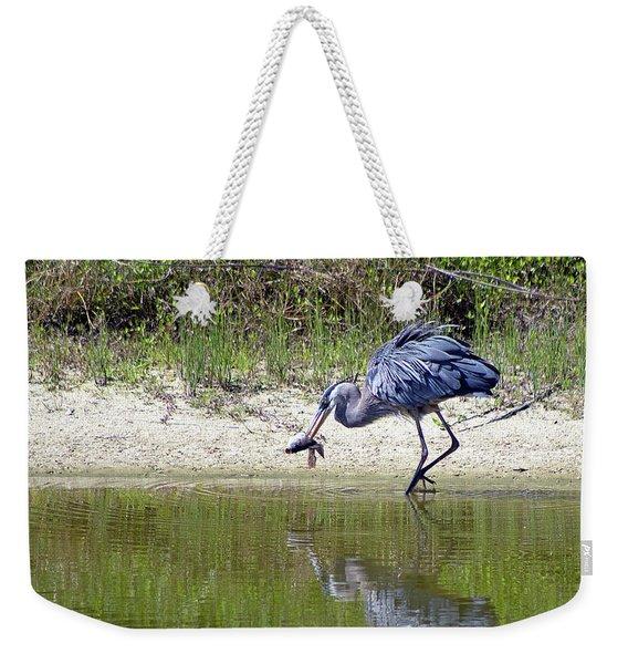 Blue Heron's Lucky Day Weekender Tote Bag