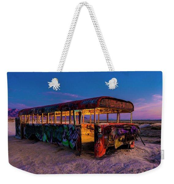 Blue Hour Bus Weekender Tote Bag