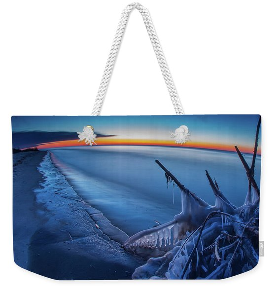 Blue Hour Fisheye Weekender Tote Bag