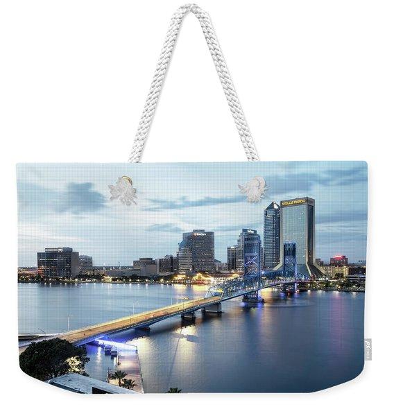 Blue Hour In Jacksonville Weekender Tote Bag