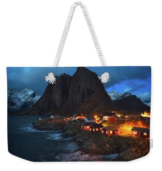 Blue Hour In Lofoten Weekender Tote Bag