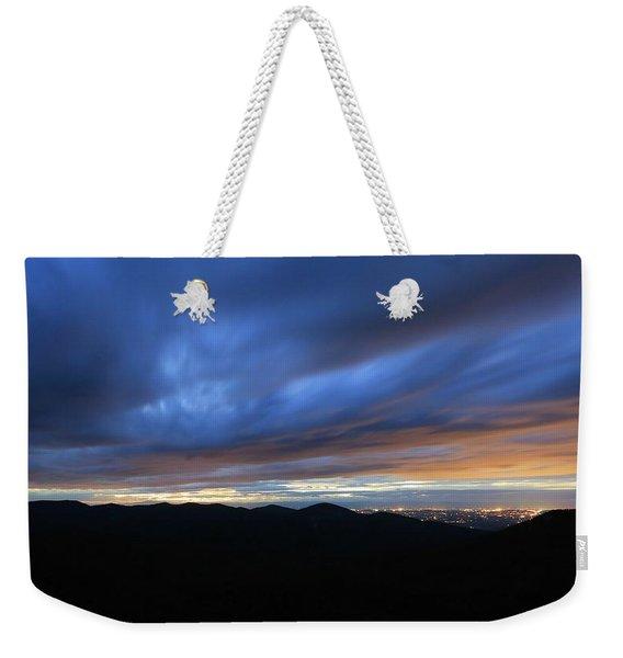 Blue Hour In Shenandoah Weekender Tote Bag