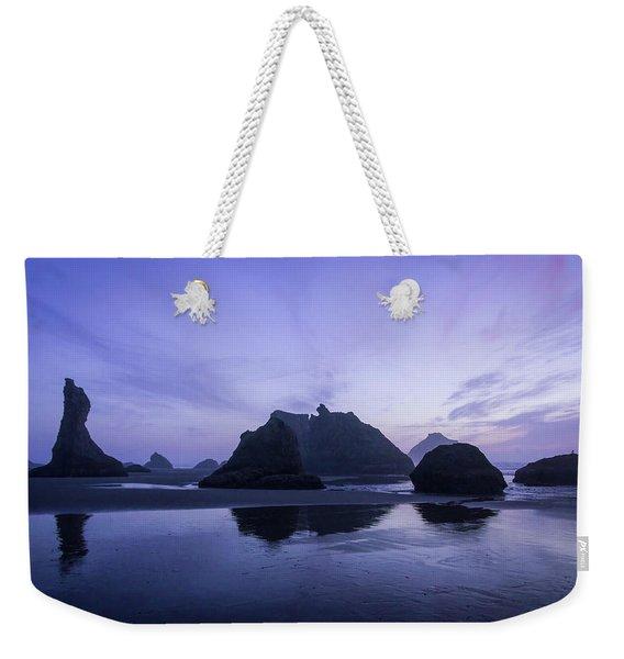 Blue Hour Reflections Weekender Tote Bag