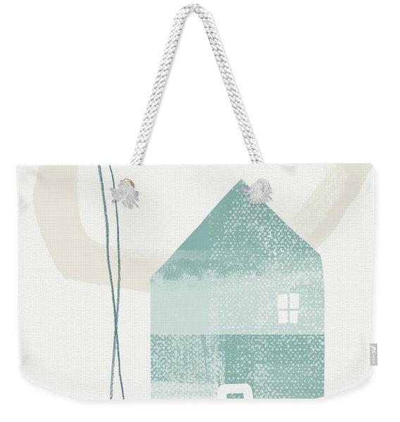 Blue House In Moonlight- Art By Linda Woods Weekender Tote Bag