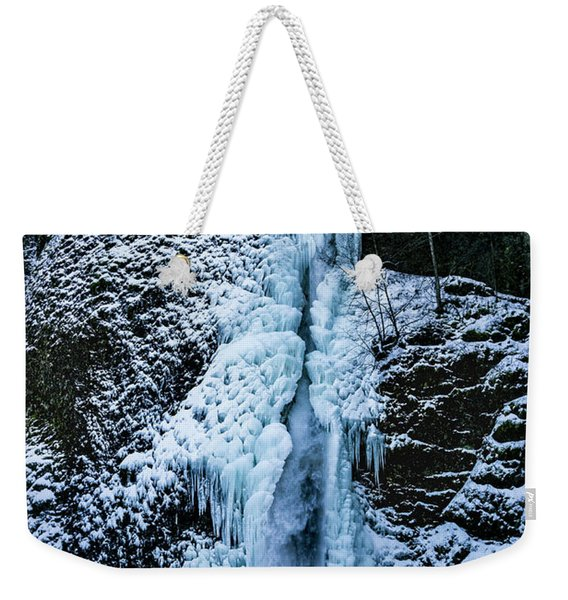 Blue Ice And Water Weekender Tote Bag