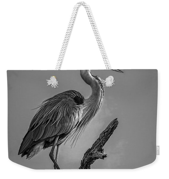 Blue In Black-bw Weekender Tote Bag