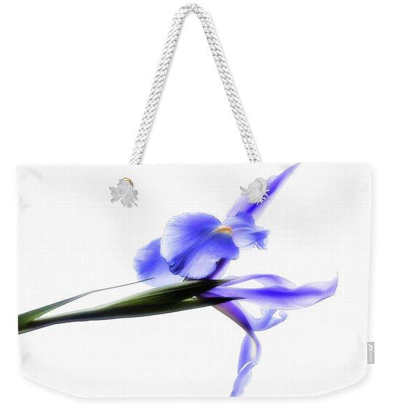 Blue Iris For Irma Weekender Tote Bag
