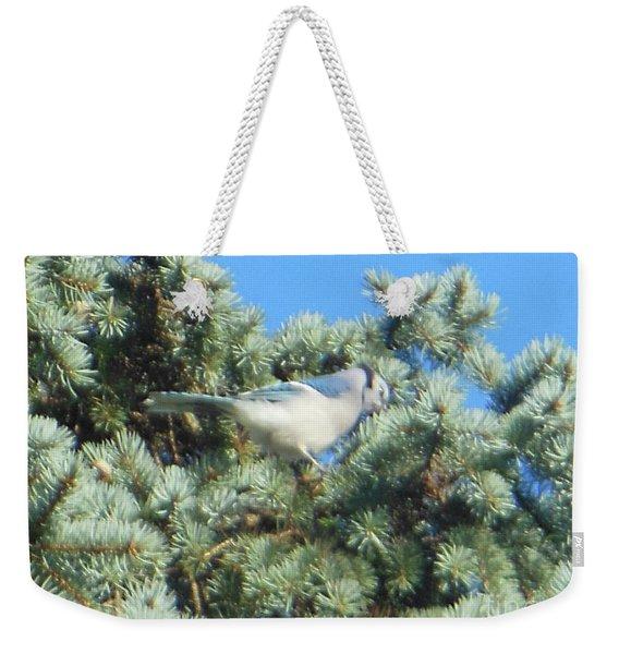 Blue Jay Colorado Spruce Weekender Tote Bag