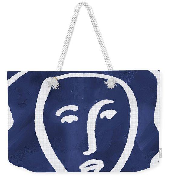 Blue Lady- Art By Linda Woods Weekender Tote Bag