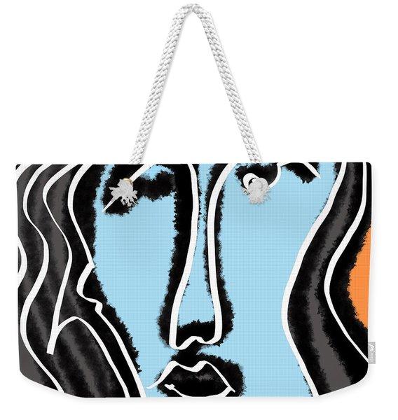 Blue Lady Weekender Tote Bag