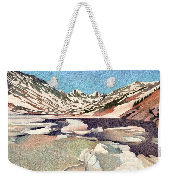 Blue Lakes Colorado Weekender Tote Bag