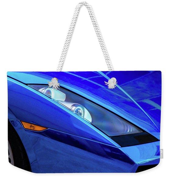 Blue Lamboghini Weekender Tote Bag