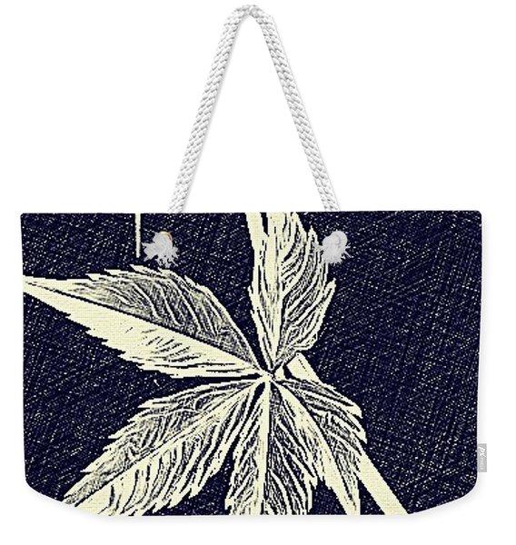 Blue Leaf Weekender Tote Bag