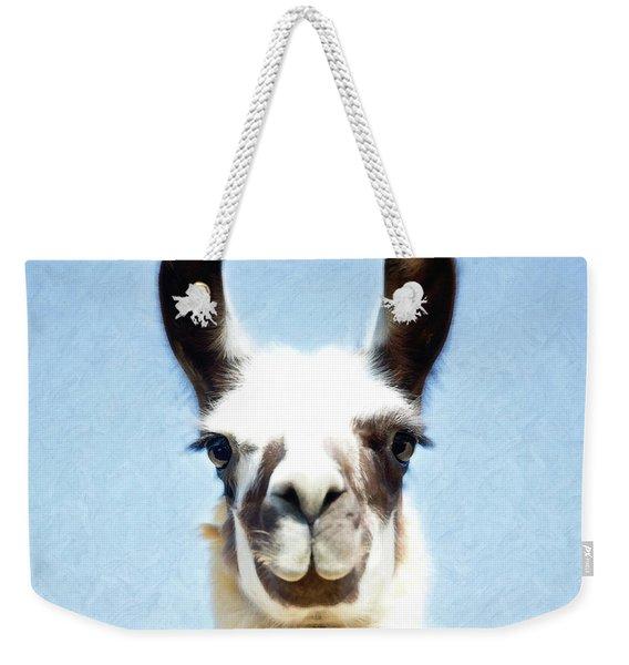 Blue Llama Weekender Tote Bag