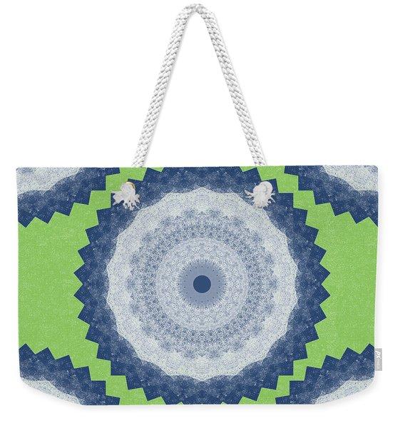 Blue Mandala- Art By Linda Woods Weekender Tote Bag