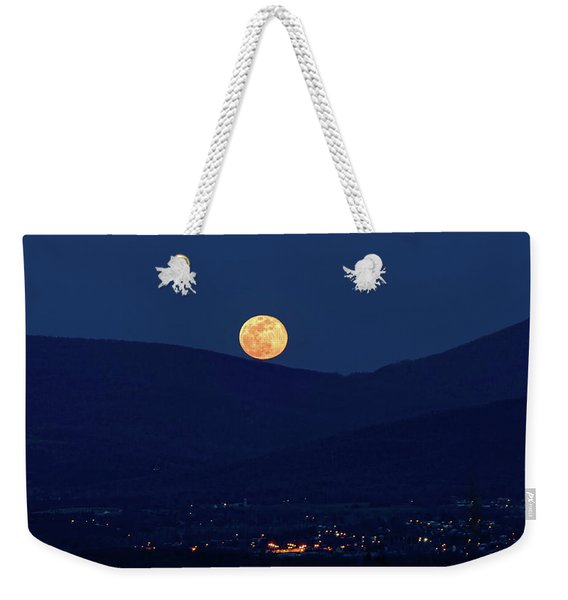 Blue Moon Over Luray 1 Weekender Tote Bag