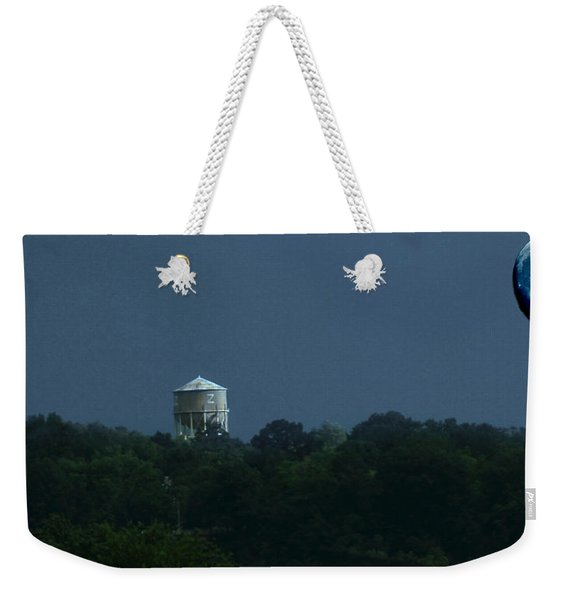 Blue Moon Over Zanesville Water Tower Weekender Tote Bag