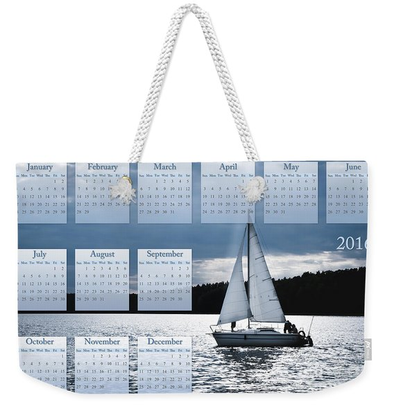 Blue Moon Sailing Calendar 2016 Weekender Tote Bag