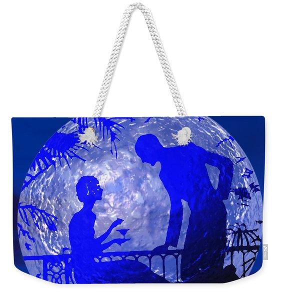 Blue Moonlight Lovers Weekender Tote Bag