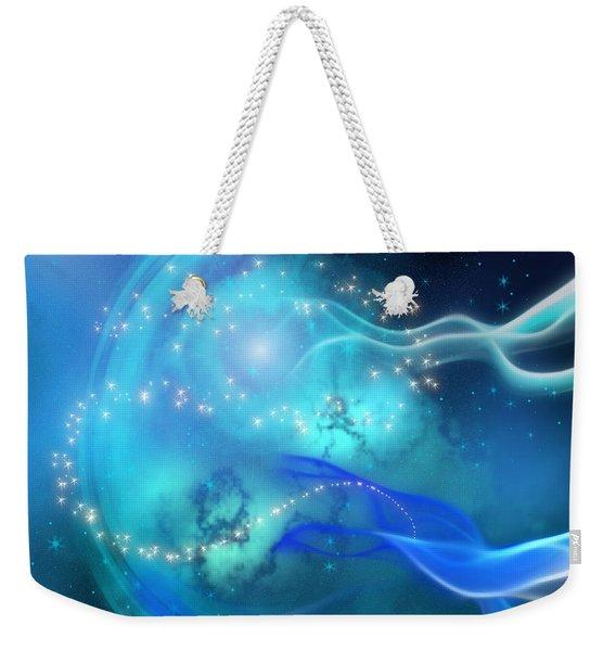 Blue Nebula Weekender Tote Bag