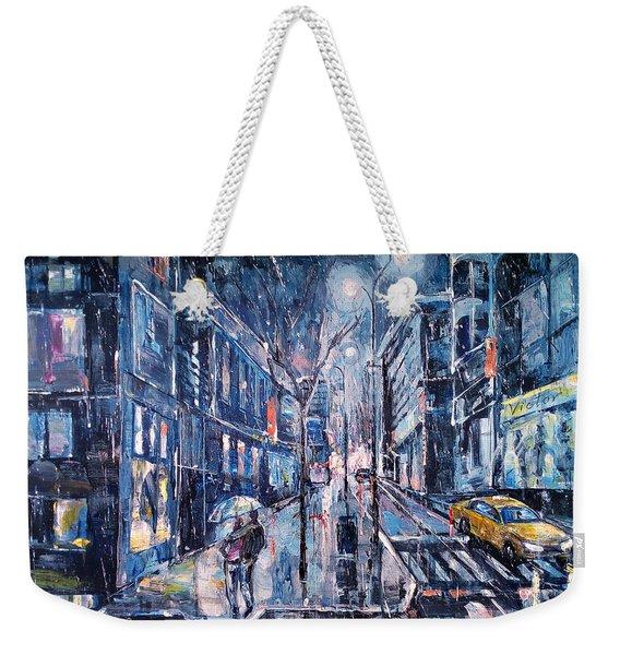 Blue Night II Weekender Tote Bag