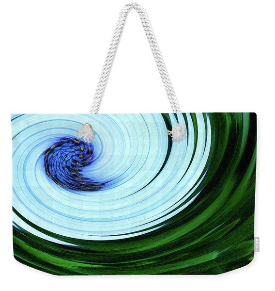 Blue On Flower Weekender Tote Bag