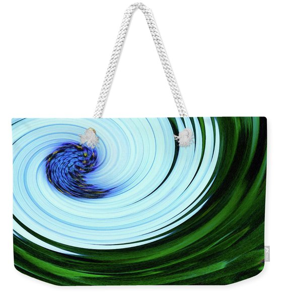 Blue On Flower Weekender Tote Bag