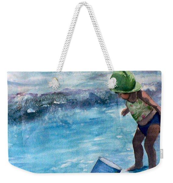 Blue Pail Weekender Tote Bag