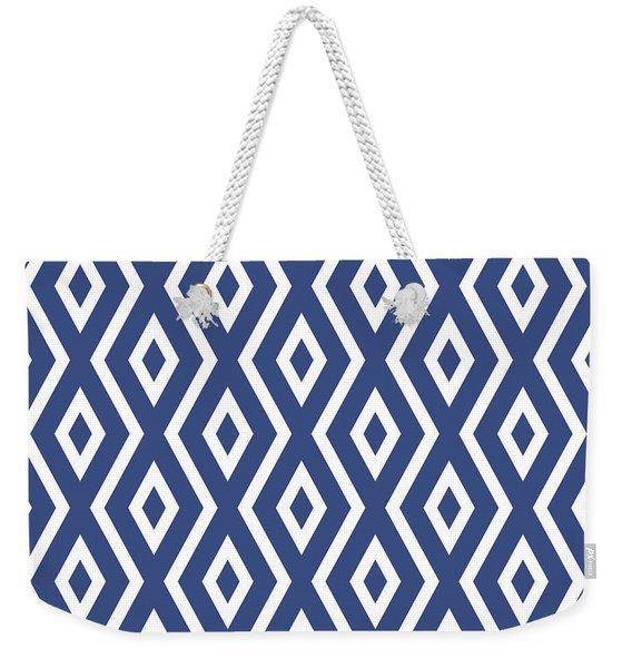Blue Pattern Weekender Tote Bag