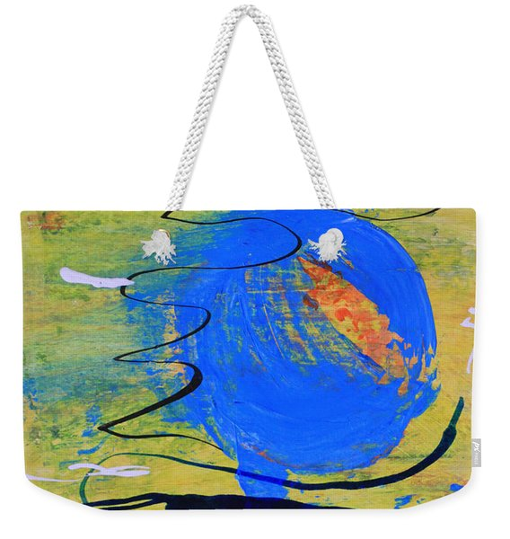 Blue Planet Abstract Weekender Tote Bag