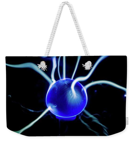 Blue Plasma Weekender Tote Bag