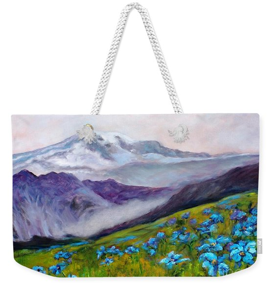 Blue Poppy Field Weekender Tote Bag