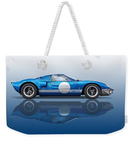Blue Reflections - Ford Gt40 Weekender Tote Bag