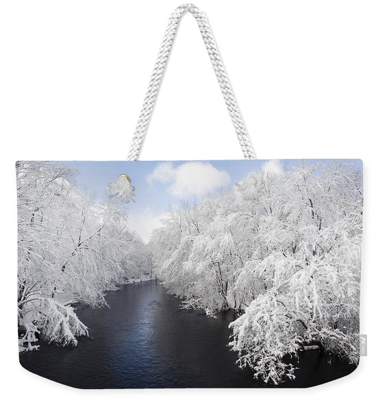 Blue Ribbon River Weekender Tote Bag
