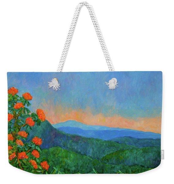 Blue Ridge Morning Weekender Tote Bag