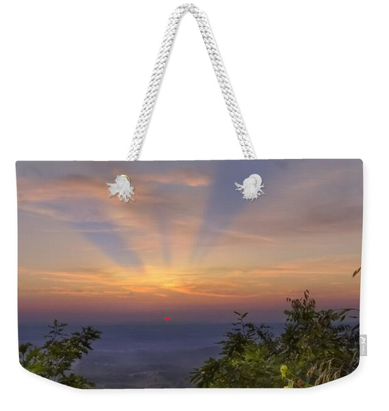 Blue Ridge Mountain Sunset Weekender Tote Bag