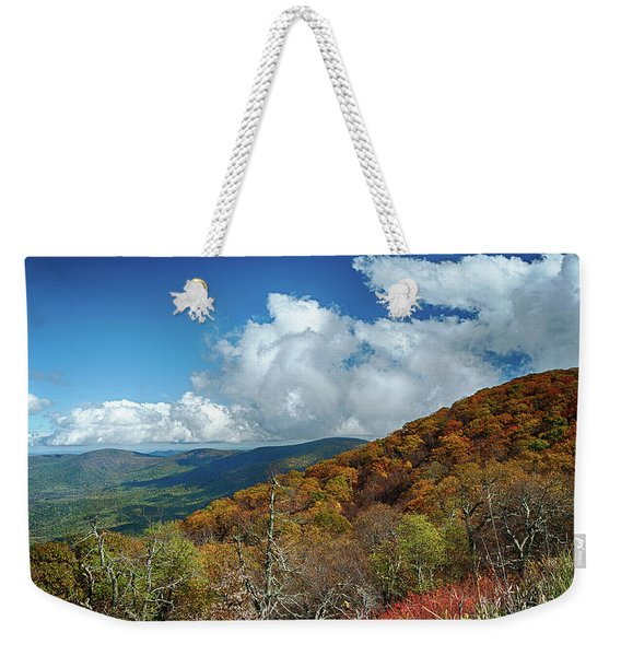Blue Ridge Mountains In The Fall 1 Weekender Tote Bag