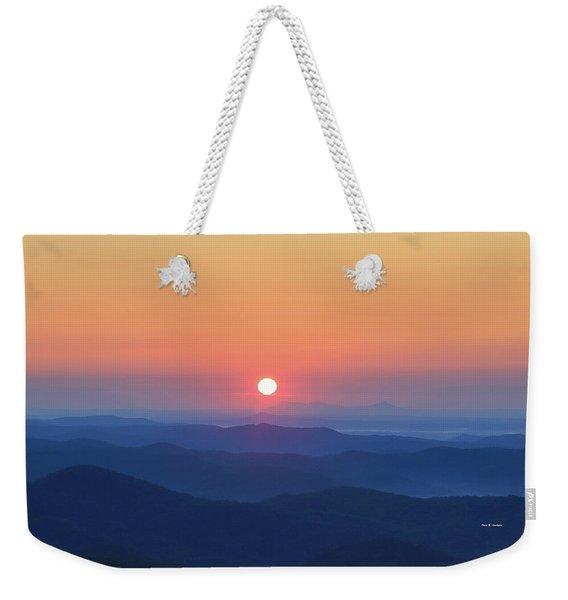 Blue Ridge Sunrise Weekender Tote Bag