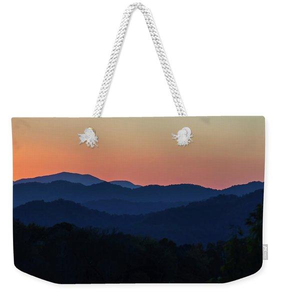 Blue Ridge Sunset Weekender Tote Bag